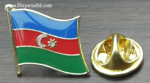 Azerbaijan Country Flag Lapel Hat Cap Tie Pin Badge / Brooch Azrbaycan Republic